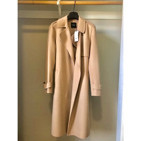 cheapest price greatvarieties suitable for men/women Theory Wool-Cashmere Coat Camel